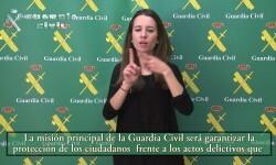 La Guardia Civil cuelga los primeros vídeos de traducción de su página web a lengua de signos