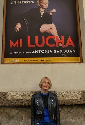 Antonia San Juan en la presentación de la obra. (Foto-R.Fariña-Valencia Noticias).