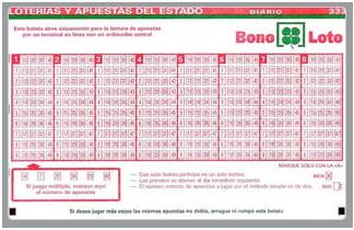 BonoLoto, Sorteo 12, sábado 16 de enero de 2016