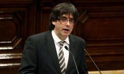 """Carles Puigdemont plantea en su investidura que el objetivo de la independencia es """"imprescindible""""."""