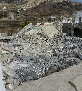 Consecuencias del impacto de un misil sobre el hospital de Shiara. (Foto-MSF).