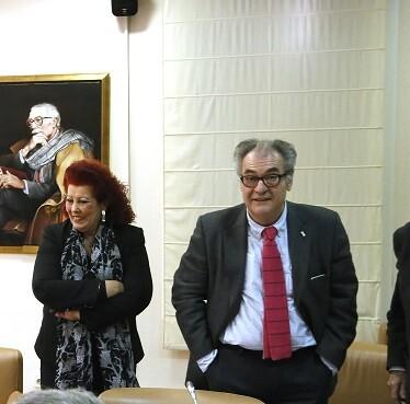 Consuelo Ciscar acudió al CVC para asistir al pleno ordinario. (Foto-Manuel Molines-Valencia Noticias).