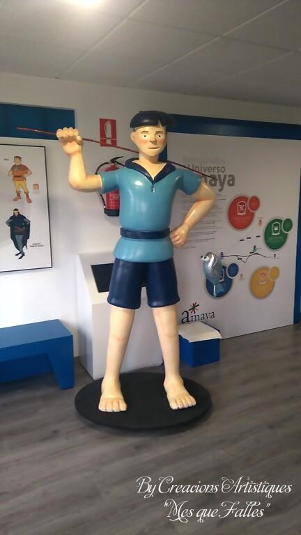 """Creacions Artístiques """"Mes Que Falles""""  va fer l'entrega de les figures """"Ruta de las Cuatro Villas de Amaya"""" en la provincia de Burgos (1)"""
