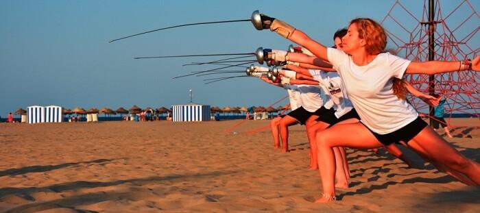Cristina Alonso en un entrenamiento en la Playa de Las Arenas (Foto-Eva Pavía).