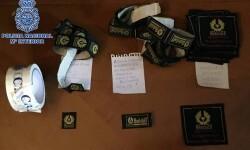 Desarticulada una organización que falsificaba prendas de ropa en Portugal para distribuirlas en España. (Foto-Valencia Noticias).