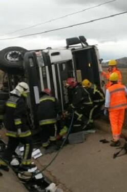 El accidente se produjo hacia las 9.30 horas.
