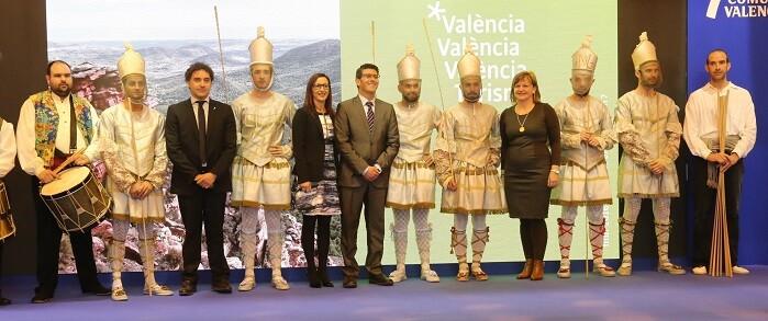 Jorge Rodríguez durante la presentación del día de la provincia de Valencia en FITUR 2016.