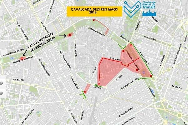 La Cabalgata de los Reyes Magos alterará la circulación del tráfico.