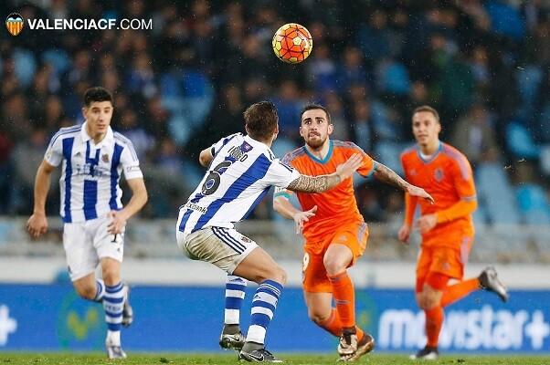 La Real Sociedad vence por 2-0 a un Valencia muy inseguro en defensa. (Foto-Lázaro de la Peña).