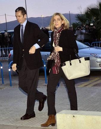 La infanta Cristina y su marido, Iñaki Urdangarin, entraron juntos al edificio de la Escuela Balear de la Administración Pública de Palma, donde se celebra el juicio.