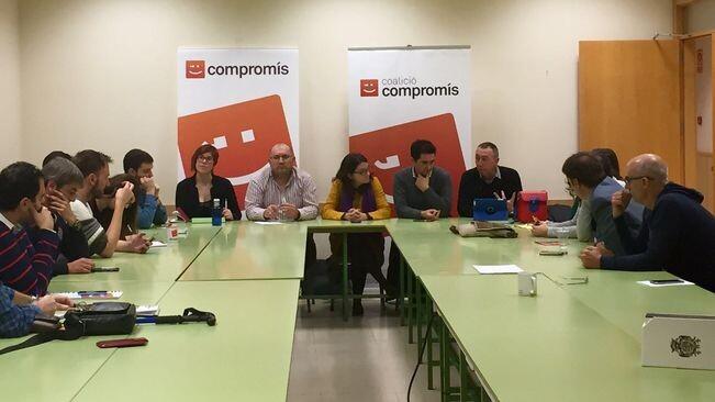 L'executiva de Comproís ha ratificat l'acord pres ahir sobre el destí dels seus quatre diputats del Congrés. / COMPROMÍS