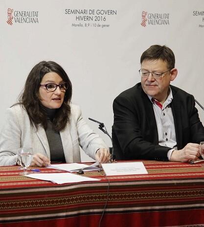Mónica Oltra y Ximo Puig.