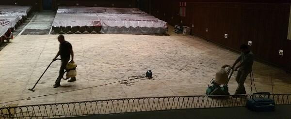 Obras en el Teatro Astoria.