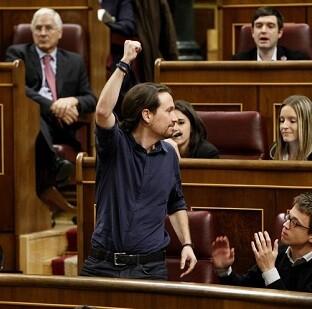 Pablo Iglesias en el Congreso.