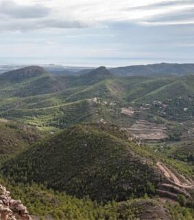 Paisaje de la sierra valenciana. (Foto-Valencia Noticias).