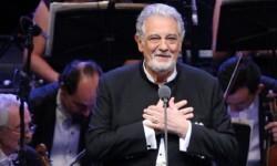 Plácido Domingo celebra su 75 cumpleaños en Les Arts de Valencia.