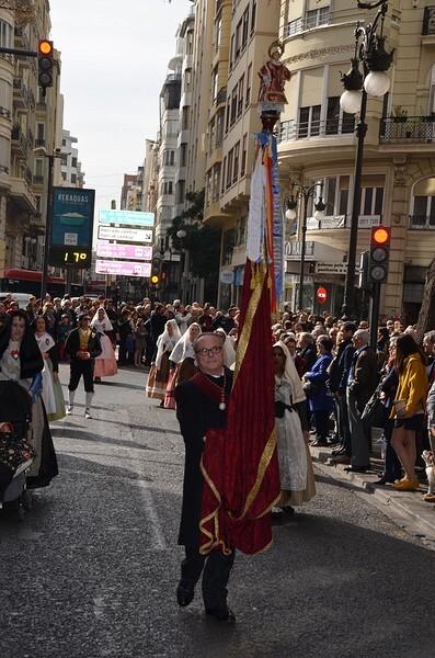 Procesión cívica de San Vicente, patrón del Gremio Artesano de Sastres y Modistas CV