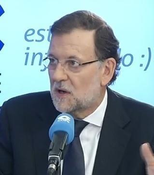 Rajoy en su entrevista en la cadena Cope.