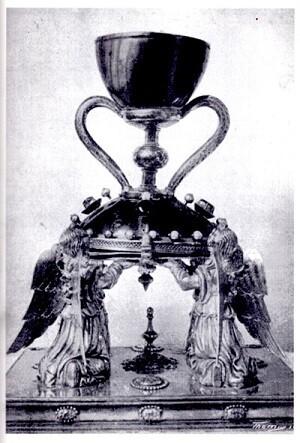 Santo Cáliz en una imagen de 1914.