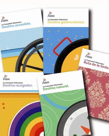 Se trata de cinco folletos enfocados a turismo accesible.