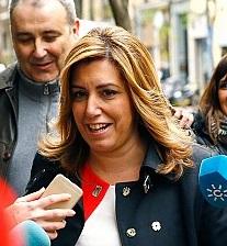 Susana Díaz a su llegada al comité.