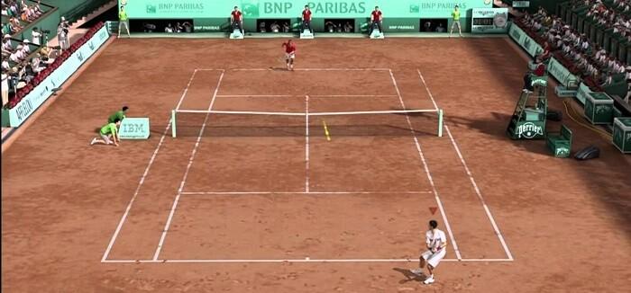 Un partido de los torneos del Grand Slam.