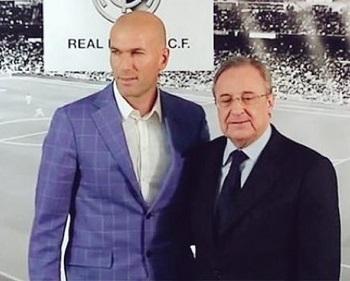 Zinedine Zidane y Florentino.