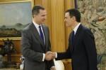 © Casa de S.M. el Rey Su Majestad el Rey recibe el saludo de Pedro Sánchez Pérez-Castejón, del Partido Socialista Obrero Español (PSOE)