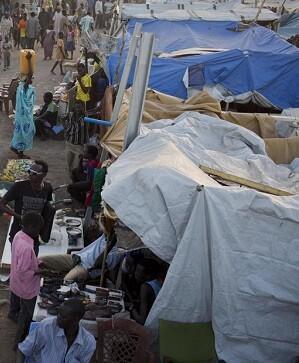 Campamento de refugiados de la ONu en Sudán del Sur. (Foto-AFP)