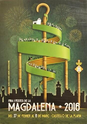 Cartel de las fiestas de La Magdalena 2016.