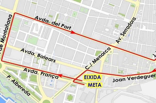 Cortes de tráfico en la avenida Francia el próximo domingo con motivo de la carrera Never Stop Running.