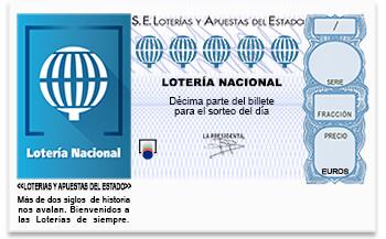 Decimo Loteria Lotería Nacional Sorteo  10, sábado 6 de febrero de 2016 Sorteo no celebrado aún SORTEO DE LOTERÍA NACIONAL