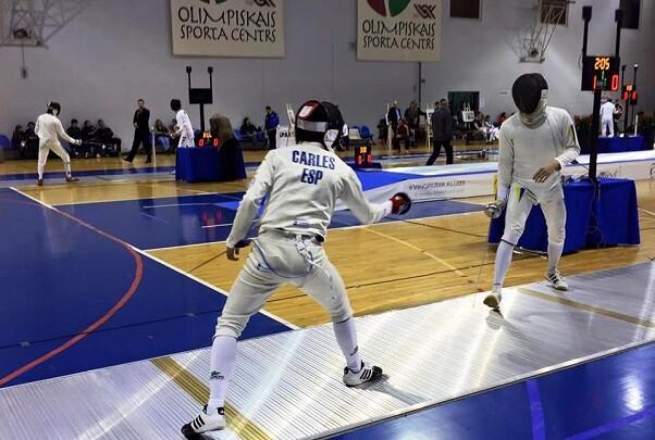 Destacada actuación de Toni Carles en la Copa del Mundo Junior de Esgrima en Riga.