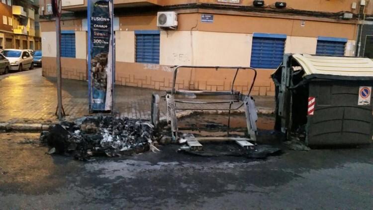 Detenido en Valencia por la quema de tres contenedores (1)