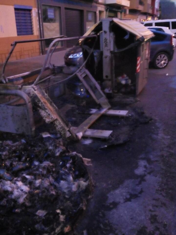 Detenido en Valencia por la quema de tres contenedores (2)
