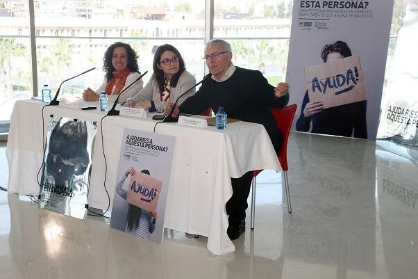 El Ayuntamiento respalda la campaña de sensibilización impulsada por la Generalitat y ACNUR.