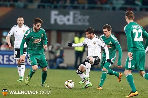 El Valencia CF se impone  al Rapid de Viena por 0-4. (Foto-Lázaro de  la Peña).