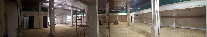 En las instalaciones del antiguo mercado se creará una gran zona multiespacio.