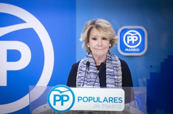 Esperanza Aguirre deja su cargo como presidenta del PP de Madrid.