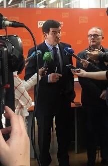 Giner durante la rueda de prensa.