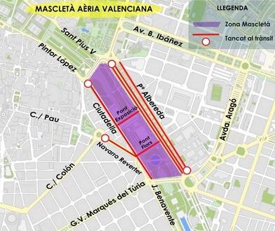Mapas con las restricciones de circulación.