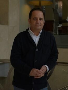 Javier González durante su estancia en Valencia presentando el libro.