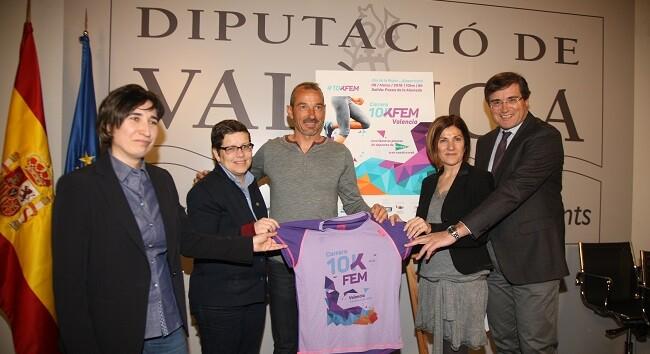 La diputada d'Esports, Joventut i Igualtat, Isabel García, ha presentat aquest matí la segona edició de la carrera 10K Femenina-Dia de la Dona Esportista.