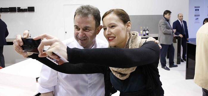 Martín Berasategui estuvo presente en Espacio Cocina. (Photo: Alberto Sáiz)