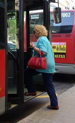 Parada de autobús.