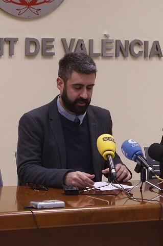 Pere Fuset, concejal de Cultura Festiva y presidente de la Junta Central Fallera. (Foto-Manuel Molines).