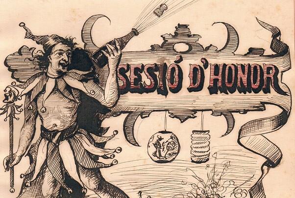 Sesió d'Honor. Curiosa y original obra valenciana de 1896.