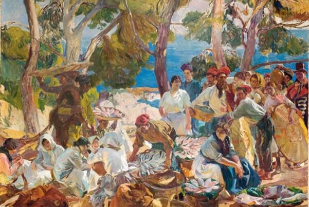 Un estudio muestra que Sorolla utilizó hasta veinte pigmentos diferentes en los bocetos de 'Visión de España'.