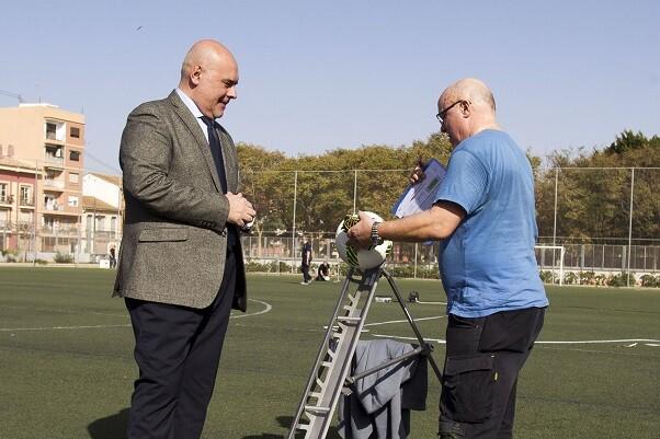 Valencia acoge las pruebas FIFA y Word Rugby de campos de fútbol de césped artificial.