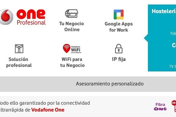 Vodafone lanza One Profesional, la solución digital para autónomos y pequeñas empresas.